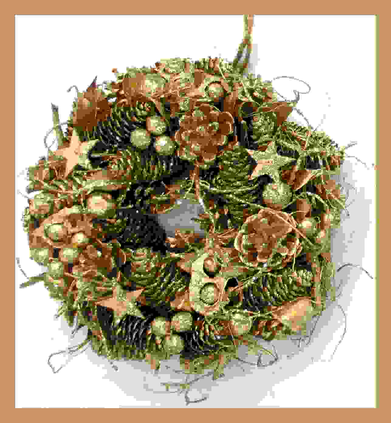 WREATH GOLD 25cm