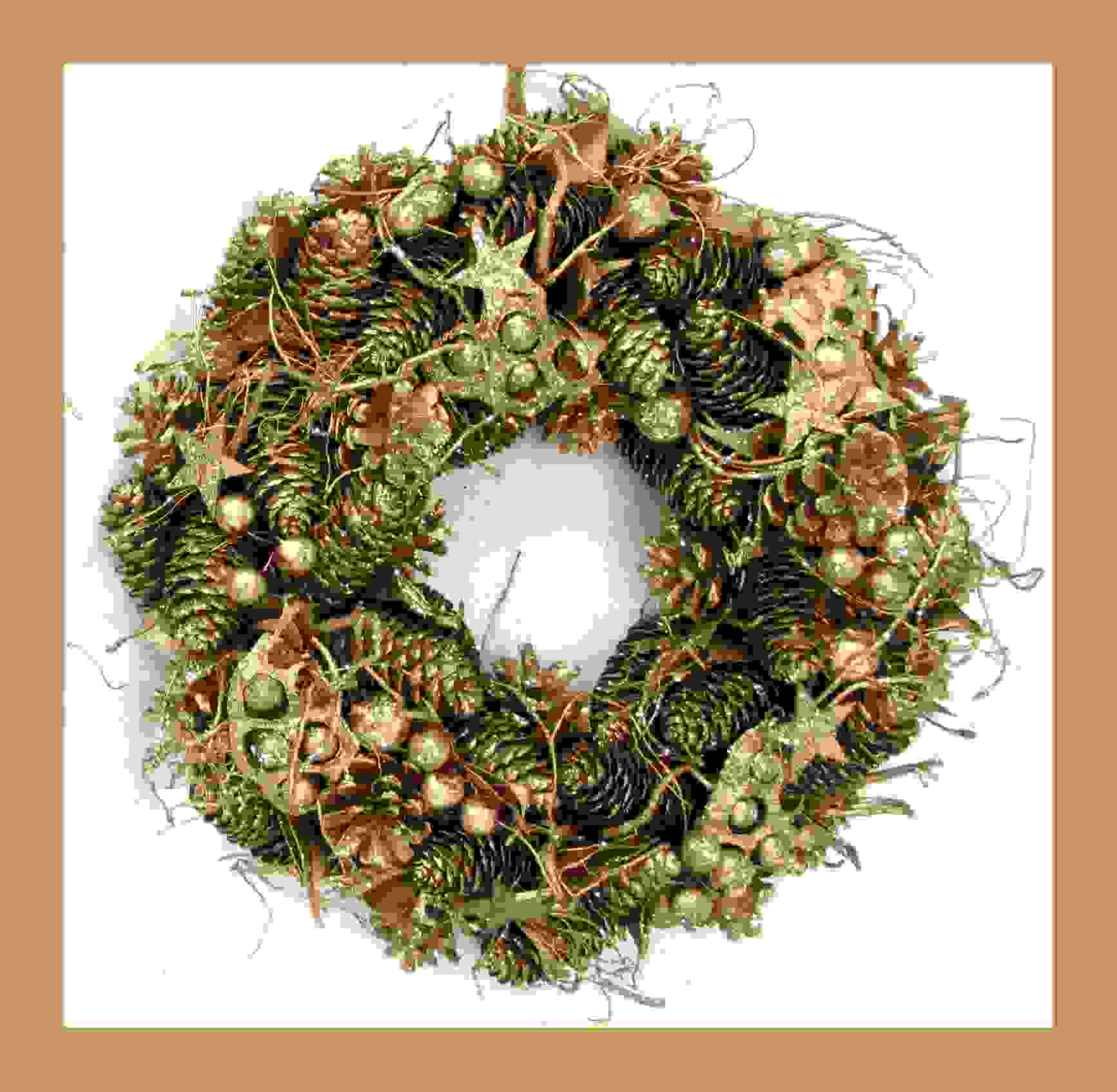 WREATH GOLD 34cm
