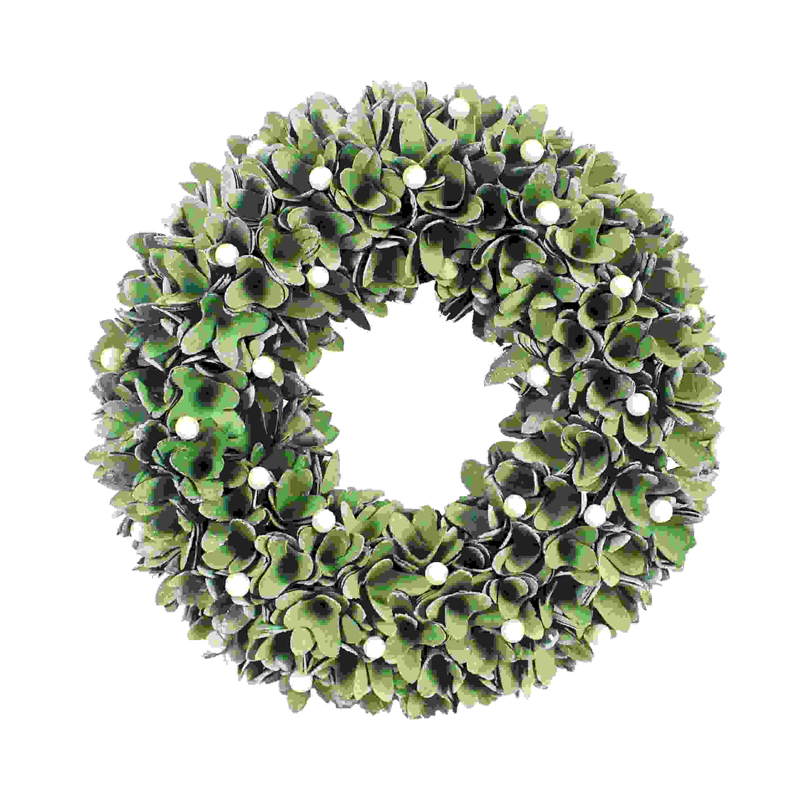 WREATH WOODSHAVE MISTLETOE 33cm