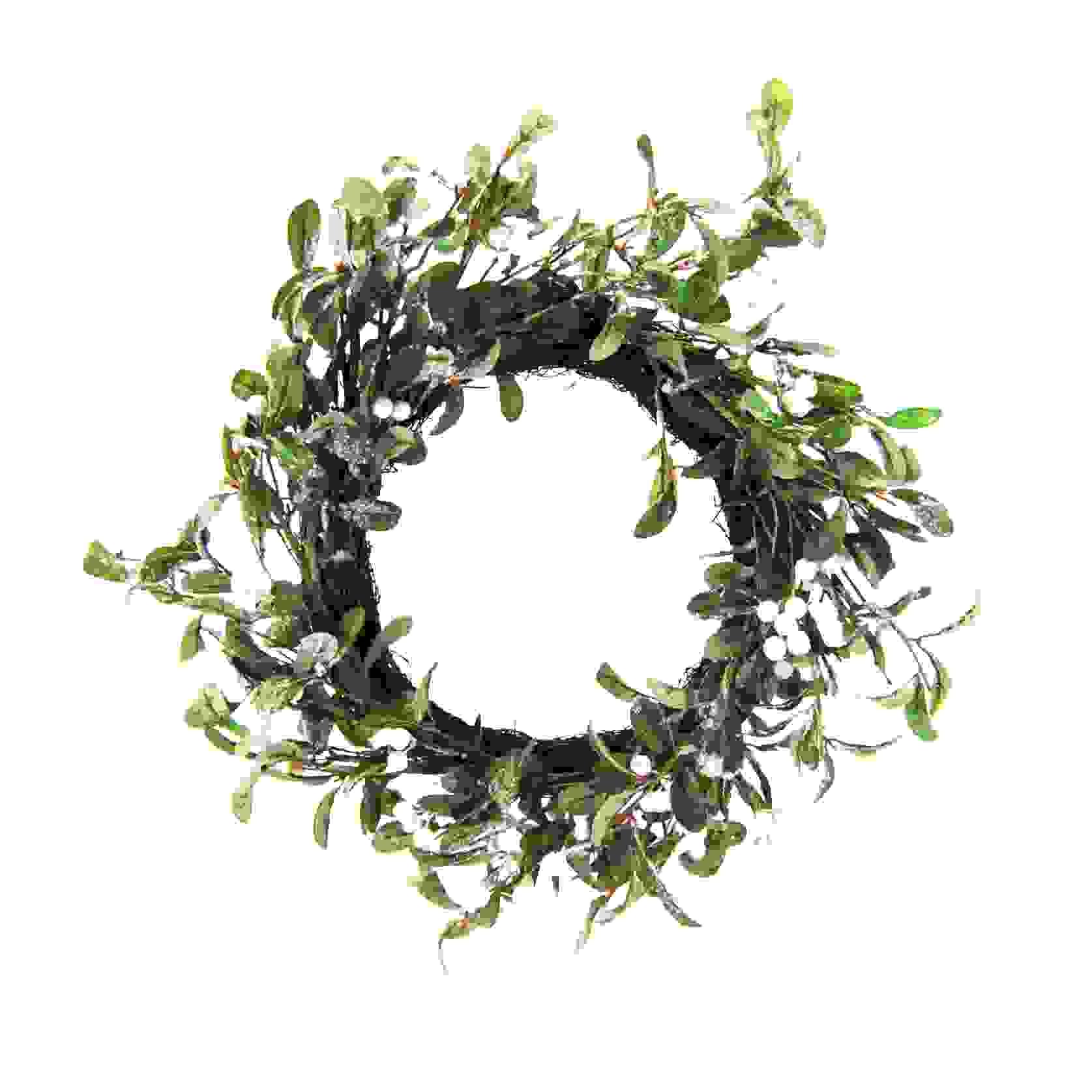 WREATH 50cm MISTLETOE
