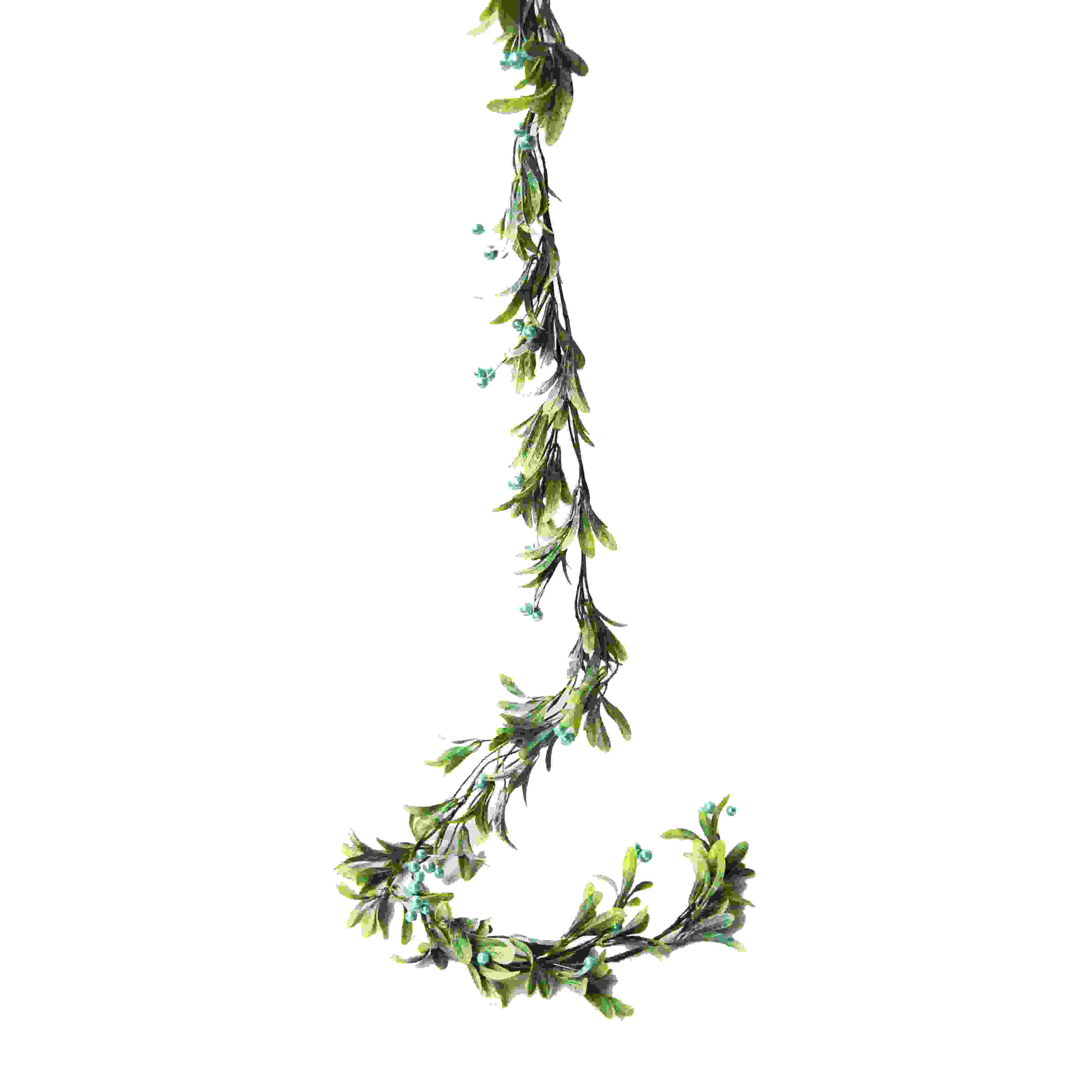 GARLAND 150cm BLUE BERRY/MISTLETOE