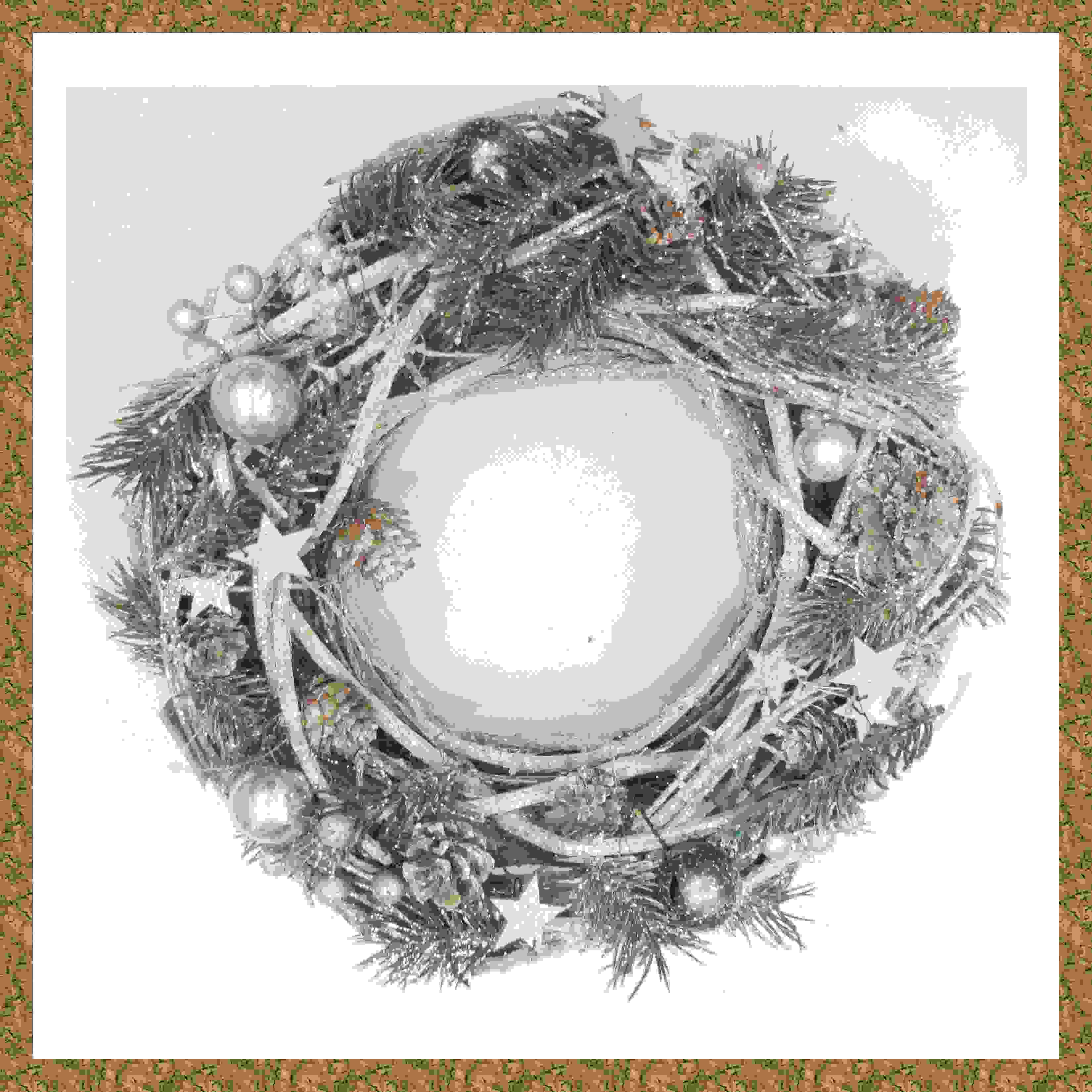 WREATH 30cm NATURAL WHITEWASH
