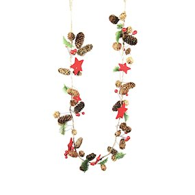 GARLAND 100cm NATURAL RED BERRY