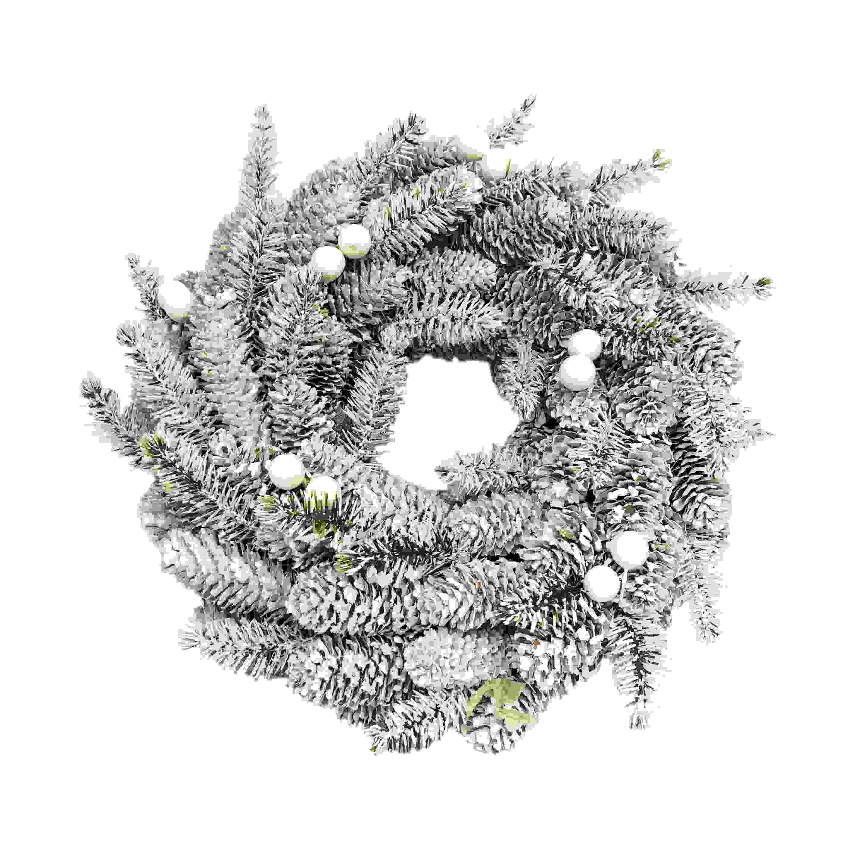 WREATH 26CM NAT WHITE FIR