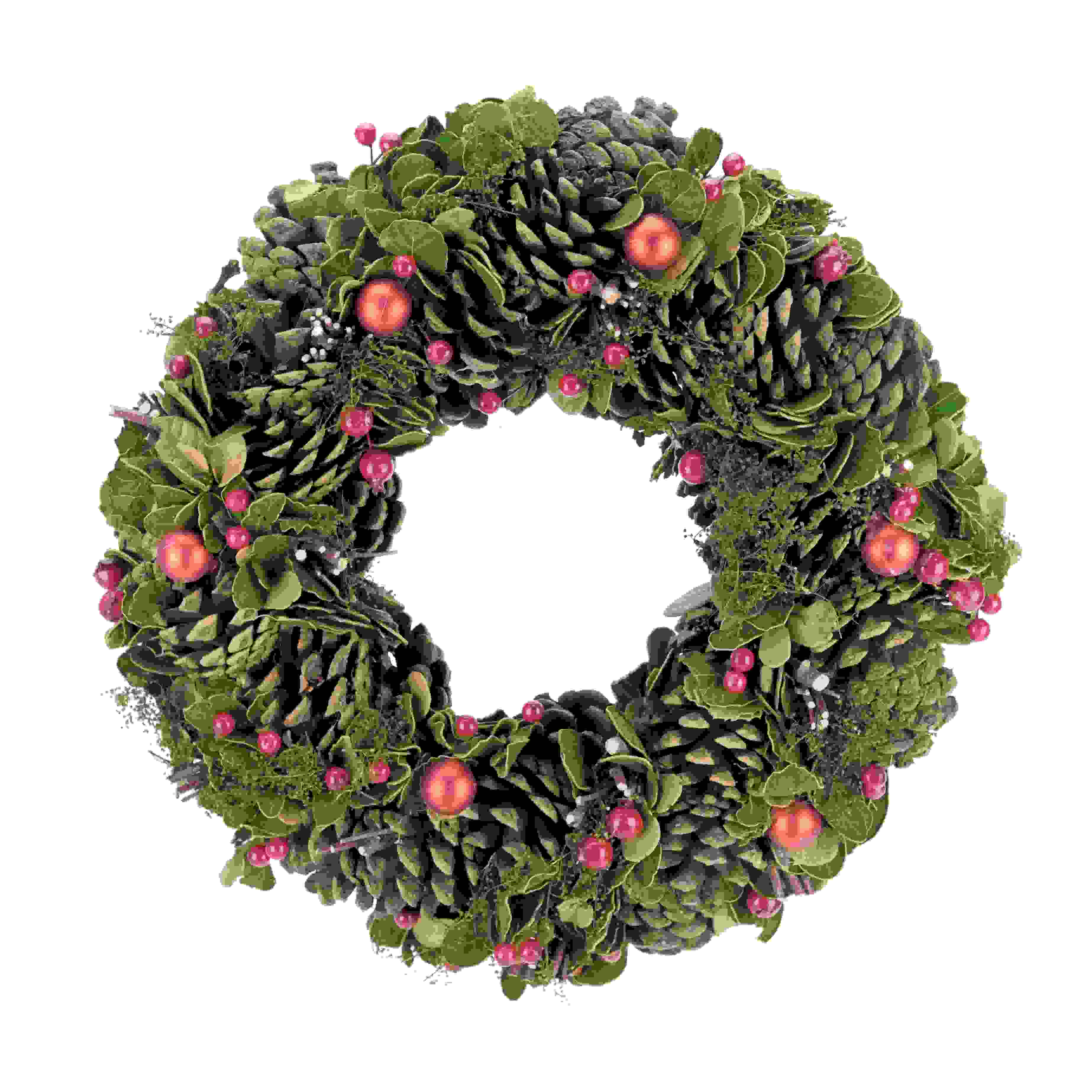 WREATH RED BERRY/GREEN FIR