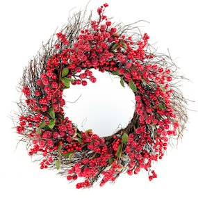 WREATH 60CM RED BERRY