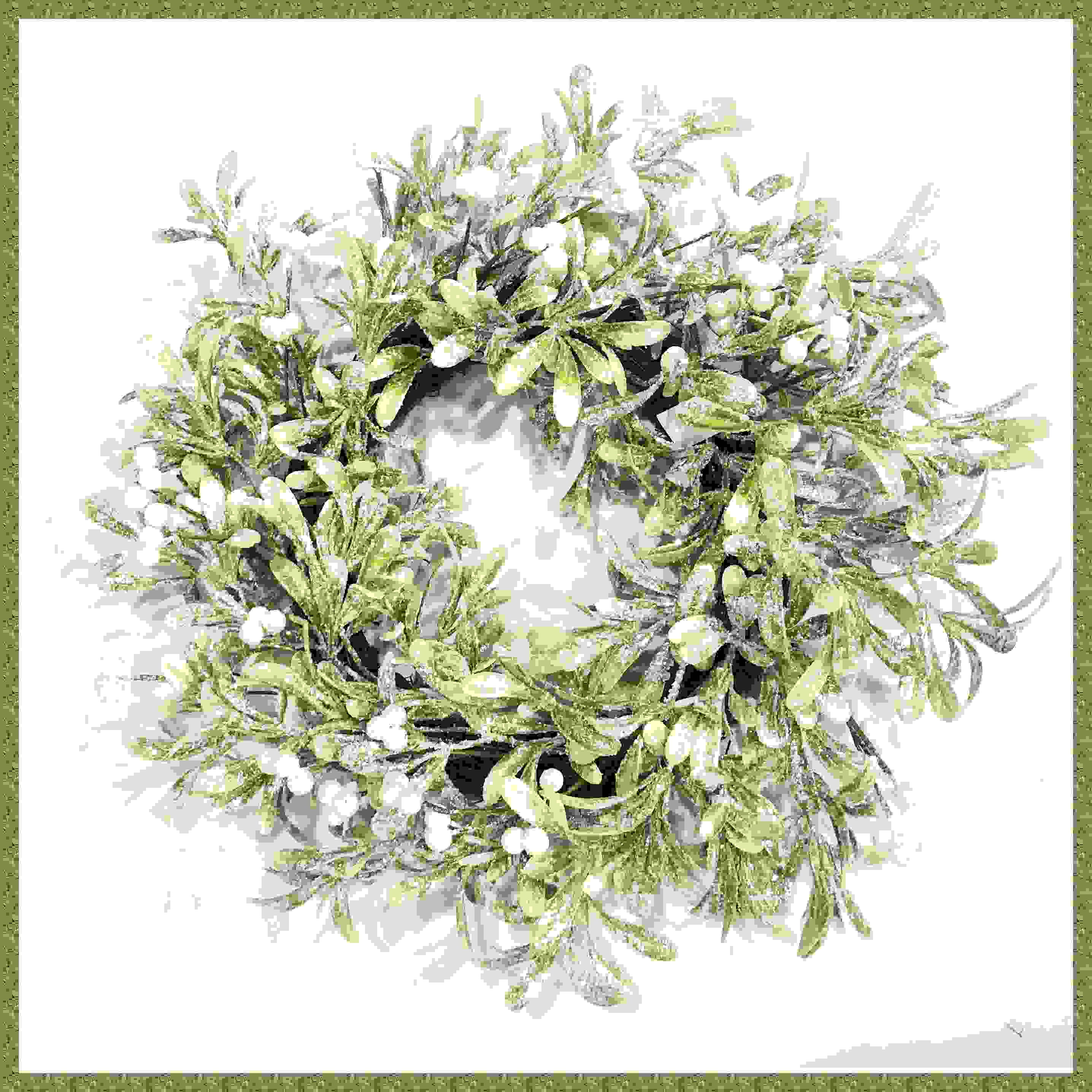 WREATH 51cm MISTLETOE