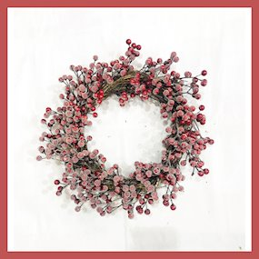 WREATH 45CM RED BERRY
