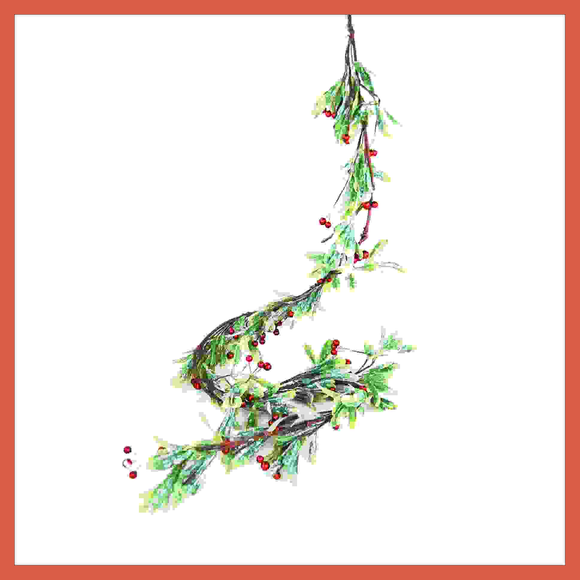 GARLAND RED BERRY MISTLETOE